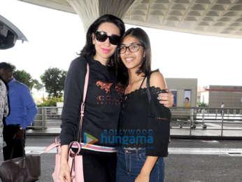 Karisma Kapoor and Manish Malhotra snapped at the airport