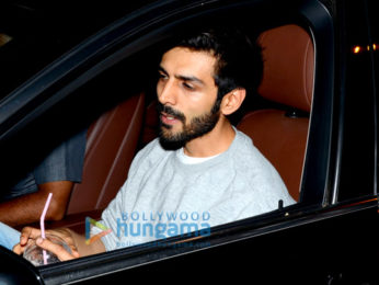 Kartik Aaryan snapped outside the gym