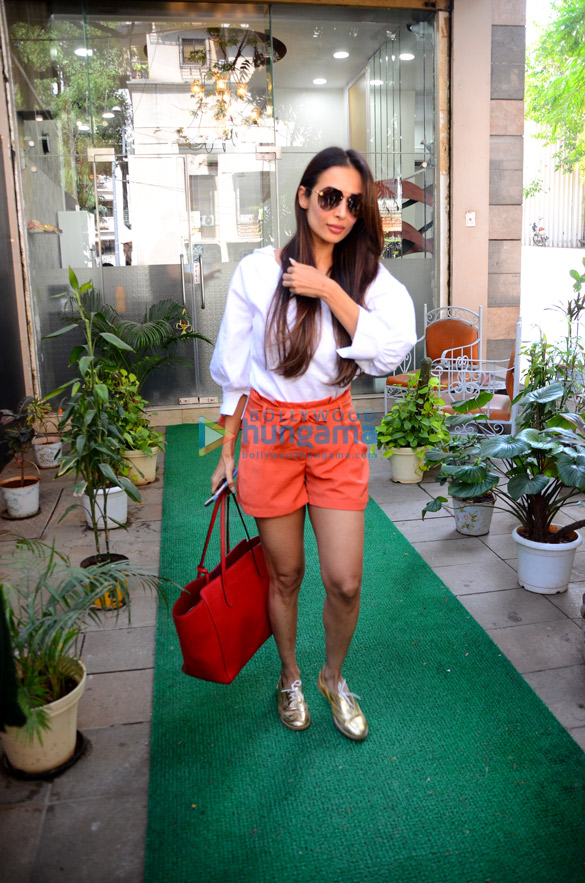 Malaika Arora spotted after salon session in Bandra