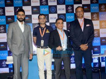 Abhishek Bachchan snapped at Pro Kabaddi League press conference