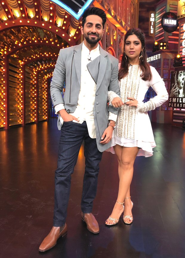 Ayushmann Khurrana and Bhumi Pednekar come together for Entertainment Ki Raat (see picture)