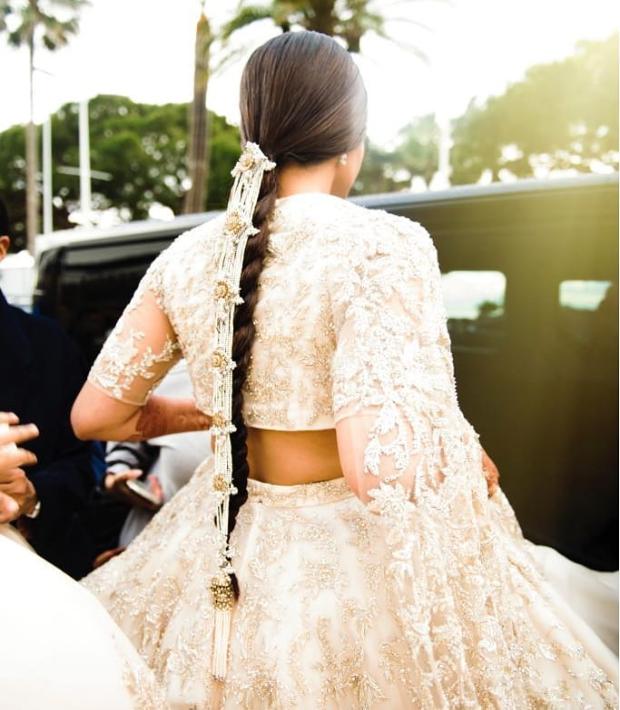 Details on Sonam Kapoor's braid at Cannes 2018