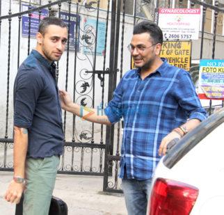 Imran Khan and Mukesh Chhabra spotted in Bandra