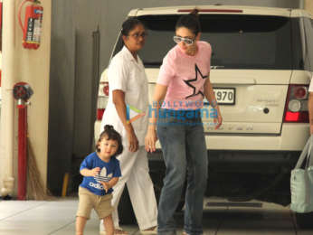 Kareena Kapoor Khan snapped with Taimur Ali Khan at her mother's residence