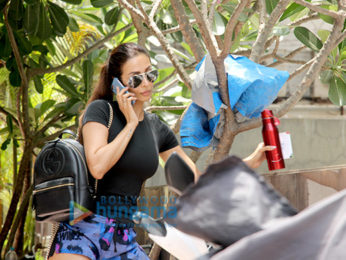 Malaika Arora snapped outside a gym in Mumbai