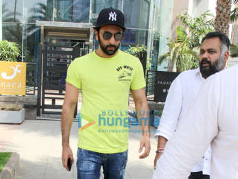 Ranbir Kapoor and Luv Ranjan snapped outside Yauatcha in BKC