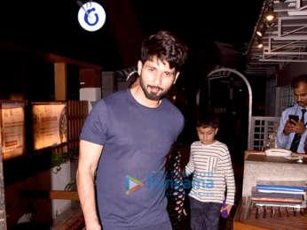 Shahid Kapoor & Mira Rajput snapped at a restaurant