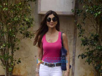 Shilpa Shetty snapped at the Radio City office in Bandra