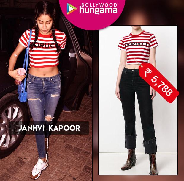 Weekly Celebrity Splurges - Janhvi Kapoor in Fiorucci