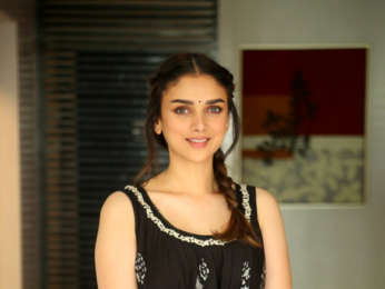 Aditi Rao Hydari snapped at media interactions for her South Indian film 'Sammohanam'