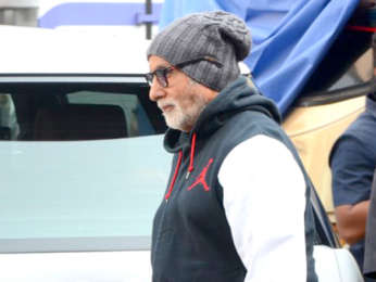 Amitabh Bachchan snapped post the shoot of Brahmastra