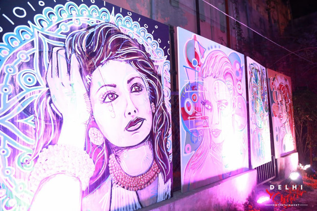 German artiste paints Sridevi in eco-friendly colours