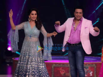 Govinda and Madhuri Dixit snapped on the sets of Dance Deewane in Film City