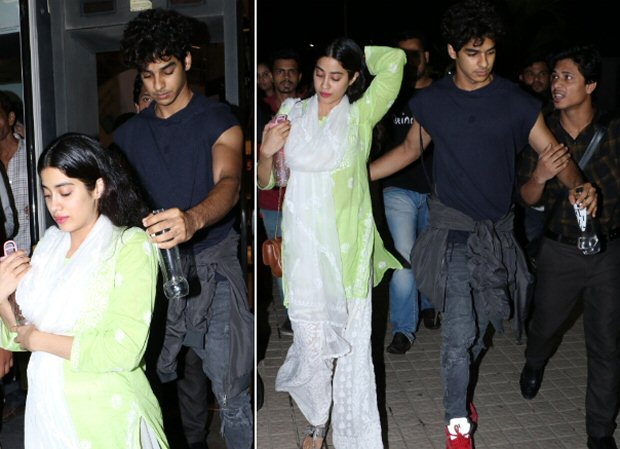 Ishaan Khatter protects Janhvi Kapoor from a fan who held his arm to take a selfie