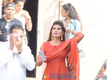 Jacqueline Fernandez snapped post an ad shoot at Mehboob studio