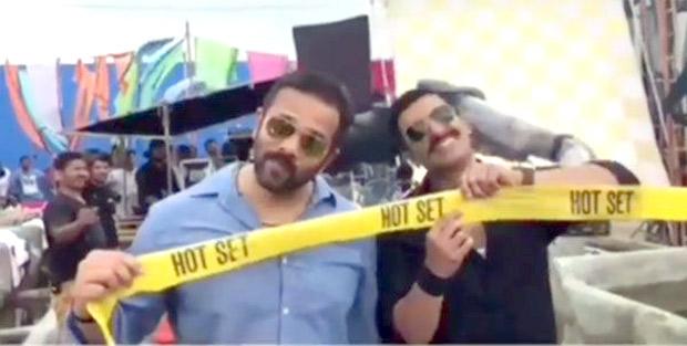 Ooh! Ranveer Singh gets HOT on the sets of Sara Ali Khan's Simmba (see video)