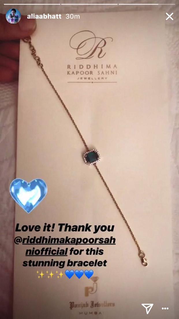 Ranbir Kapoor's folks shower LOVE on girlfriend Alia Bhatt; sister Riddhima gifts her a stunning piece of jewellery