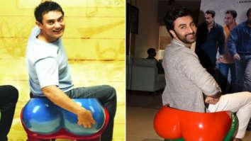 Ranbir Kapoor recreates Aamir Khan's All Izz Well scene from 3 Idiots during Sanju promotions