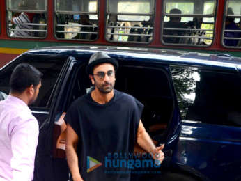 Ranbir Kapoor spotted at a salon in Bandra