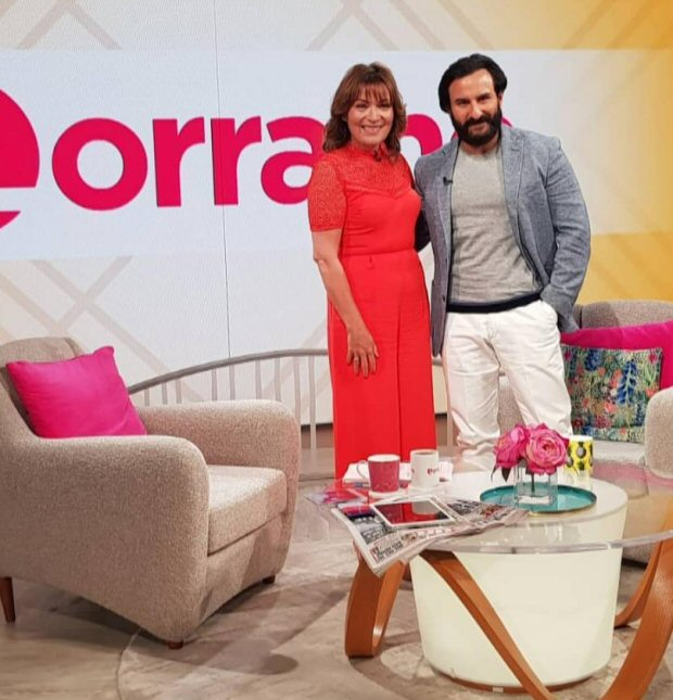 Saif Ali Khan talks about Sacred Games, Taimur's popularity, working mom Kareena Kapoor Khan and making a biopic on his dad on Lorraine