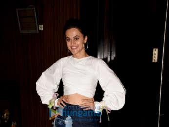Taapsee Pannu snapped promoting her film Soorma