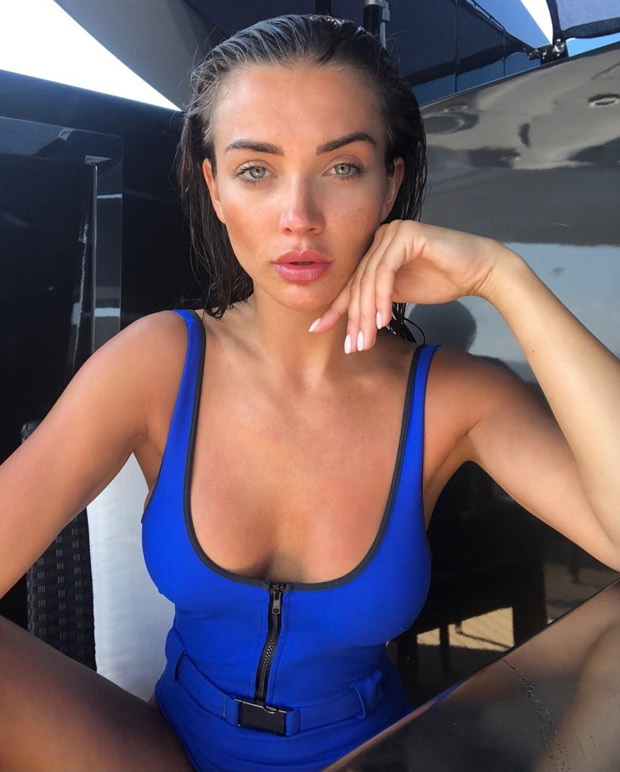 HOTNESS: 2.0 actress Amy Jackson sizzles in a blue swimsuit during her Mykonos vacation