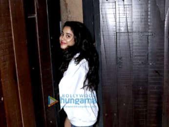 Janhvi Kapoor and Arjun Kapoor spotted at Sonam Kapoor's house in Juhu