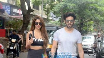 Kartik Aaryan spotted with girlfriend Dimple Sharma at Bandra