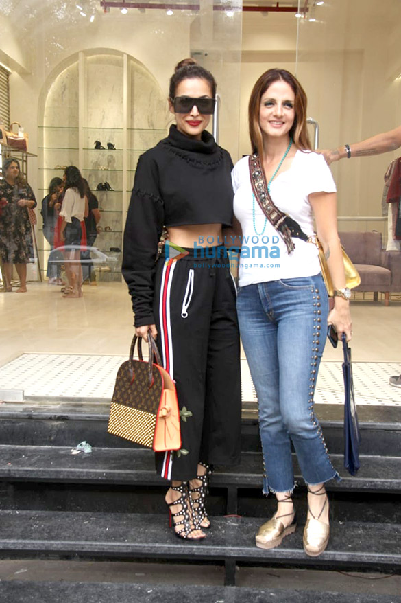 Malaika Arora and Sussanne Khan snapped at the Label Life store in Bandra