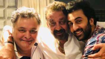Rishi Kapoor's mid-air TOAST for Ranbir Kapoor's Sanju success is every proud parent ever (see picture)