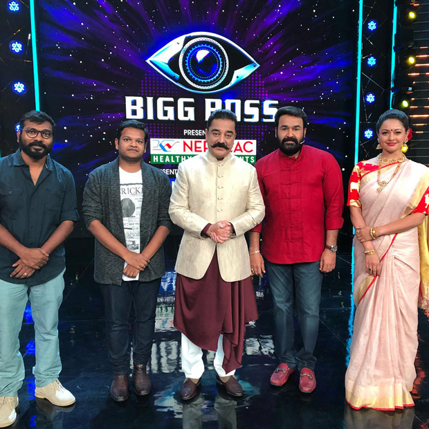 When Bigg Boss met Bigg Boss: Kamal Haasan meets Mohanlal on the sets of Bigg Boss Malayalam for Vishwaroopam 2 promotions