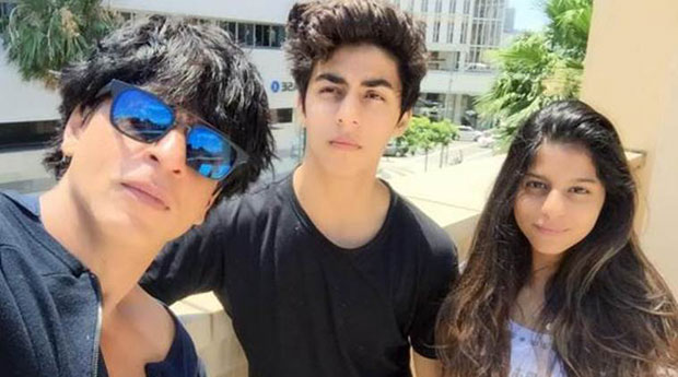 LEAKED: Shah Rukh Khan spotted at Dubai airport with Aryan and Suhana Khan