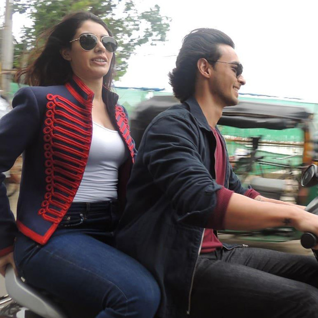 Loveratri debutantes Aayush Sharma and Warina Hussain fined for riding bike without helmets