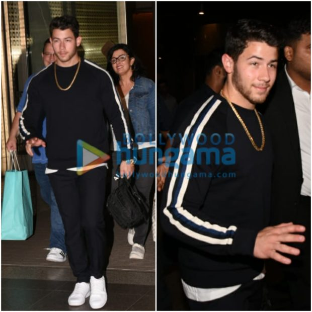 PHOTOS: Nick Jonas arrives in Mumbai with his parents to celebrate his engagement with Priyanka Chopra