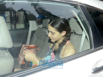 Sara Ali Khan snapped outside the gym
