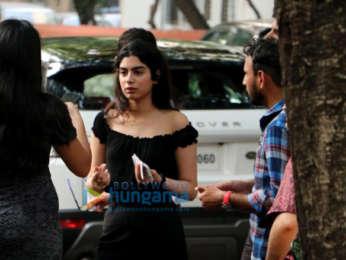 Khushi Kapoor, and Hansika Motwani snapped in Juhu