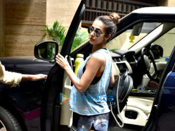 Malaika Arora spotted after gym session in Bandra