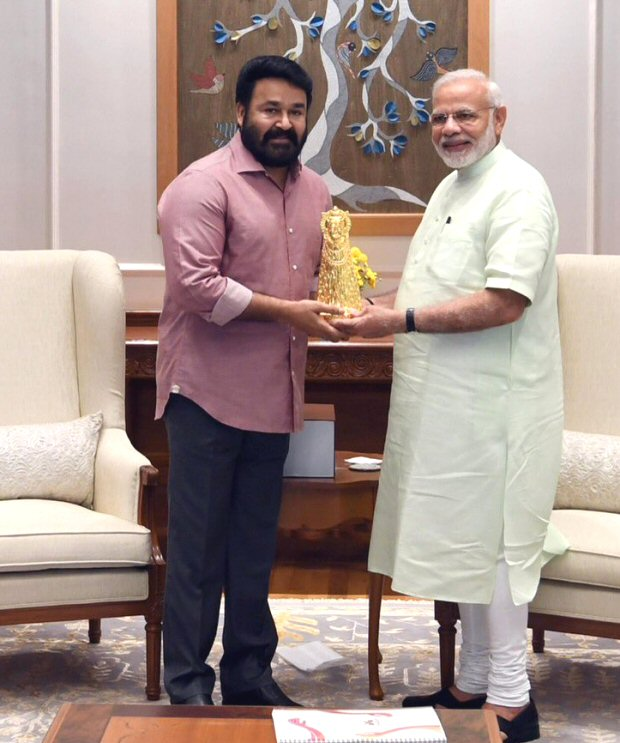 Malayalam superstar Mohanlal meets Honorable Prime Minister Narendra Modi