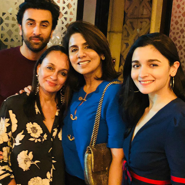 Ranbir Kapoor goes on birthday dinner date with rumoured girlfriend Alia Bhatt and their moms Neetu Kapoor and Soni Razdan
