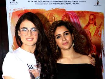 Sanya Malhotra and Radhika Madan snapped during Pataakha interviews at Sun N Sand in Juhu