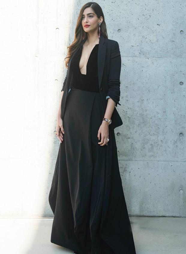 Sonam Kapoor at Milan Fashion Week 2018 for Giorgio Armani