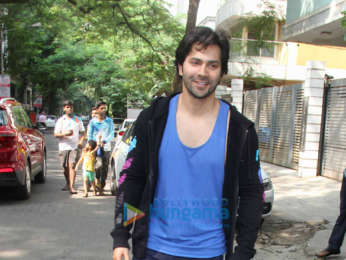 Varun Dhawan spotted at the gym