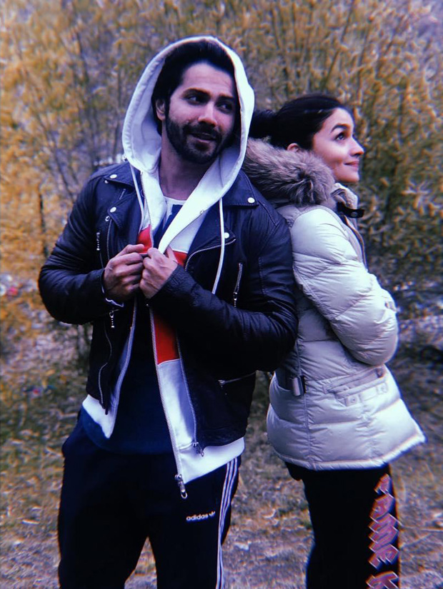 AWW! Varun Dhawan and Alia Bhatt share the CUTEST picture from Kalank sets in Kargil