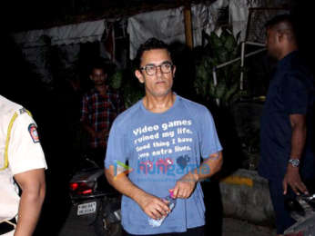 Aamir Khan spotted at spa in Bandra