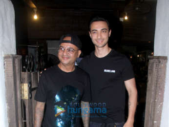 Aayush Sharma snapped at Hakim's Aalim salon in Bandra