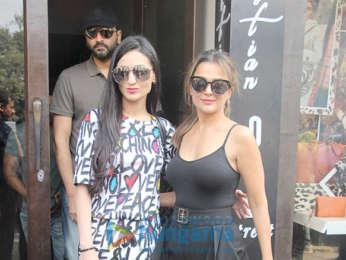 Amrita Arora and Khushi Kapoor snapped at Bastian