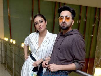 Ayushmann Khurrana and Tabu snapped promoting AndhaDhun in Delhi