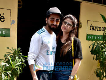 Ayushmann Khurrana snapped at Farmers' Cafe in Bandra