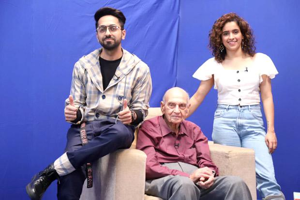 Badhaai Ho stars Ayushmann Khurrana & Sanya Malhotra meet renowned sexpert Dr. Mahendra Watsa!