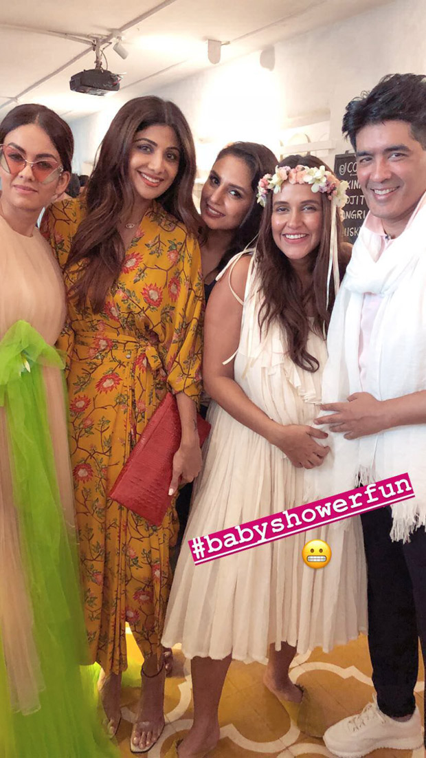INSIDE PICS: A star studded BABY SHOWER of Neha Dhupia was hosted by her and her doting hubby Angad Bedi